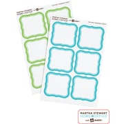 Martha Stewart Home Office™ with Avery™ Removable Labels, Flourish, 1-5/8 x 1-3/4, 36/Pack