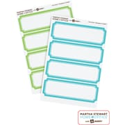Martha Stewart Home Office™ with Avery™ Removable Labels, Blue/Green Borders, Classic, 24/Pack