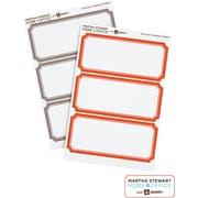 Martha Stewart Home Office™ with Avery™ Classic Labels, Orange/Gray Border, 1-5/8 x 3-3/4, 18/Pack