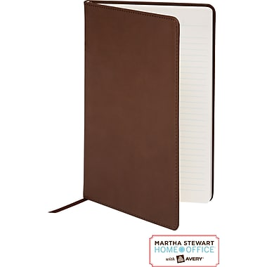 Martha Stewart Home Office™ with Avery™ Classic Smooth-Finish Journal, Brown, 5-1/2in. x 8-1/2in.