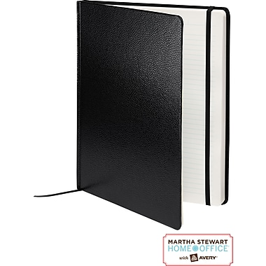 Martha Stewart Home Office™ with Avery™ Premium Shagreen Journal, Black, 8in. x 10in.