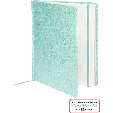 Martha Stewart Home Office™ with Avery™ Premium Shagreen Journal, Blue, 8in. x 10in.