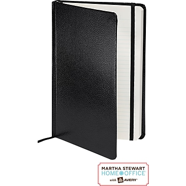 Martha Stewart Home Office™ with Avery™ Premium Shagreen Journal, Black, 5-1/2in. x 8-1/2in.