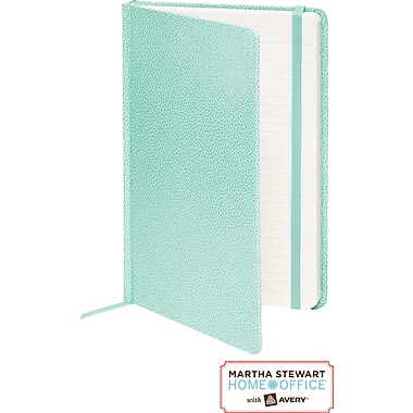 Martha Stewart Home Office™ with Avery™ Premium Shagreen Journal, Blue, 5-1/2in. x 8-1/2in.