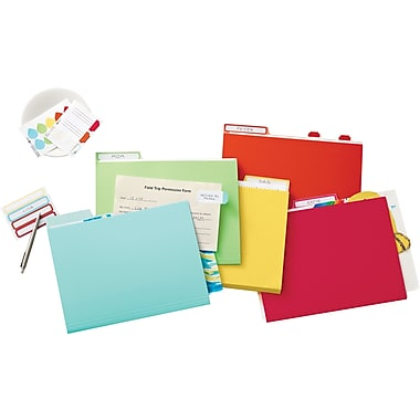 Martha Stewart Home Office™ with Avery™ File Folder Labels - Red, Blue, Orange, Yellow, 120/Pack