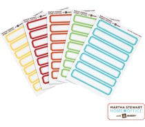 Martha Stewart File Folder Labels
