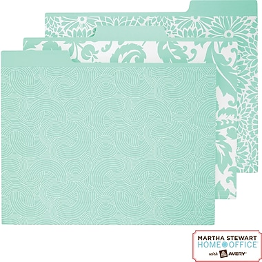 Martha Stewart Home Office™ with Avery™ File Folders Assorted Blue Patterns, 3 Tabs