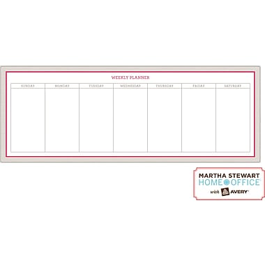 Martha Stewart Home Office™ with Avery™ Dry Erase Weekly Planner Red and Gray, 5-7/8in. x 15-7/8in.