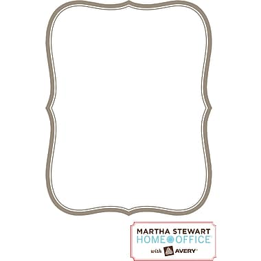 "Martha Stewart Home Office™ with Avery™ Dry Erase Decal, Gray Border, Flourish, 8-3/8"" x 10-7/8"""