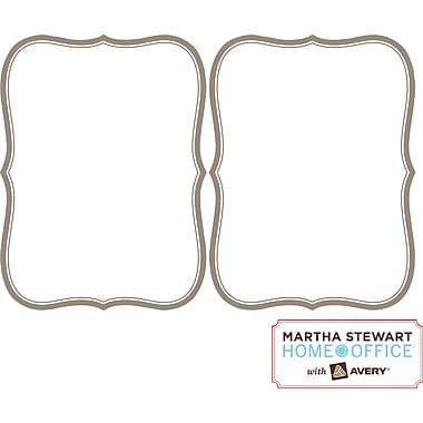 "Martha Stewart Home Office™ with Avery™ Dry Erase Decal, Gray Border, Flourish 5-7/8"" x 7-7/8"""