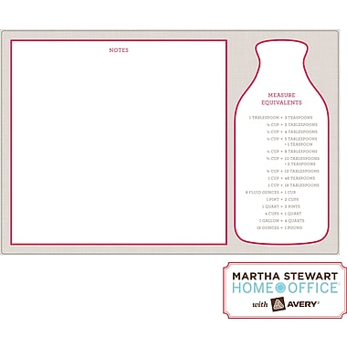 "Martha Stewart Home Office™ with Avery™ Dry Erase Kitchen Chart Red and Gray 7-7/8"" x 11-7/8"""