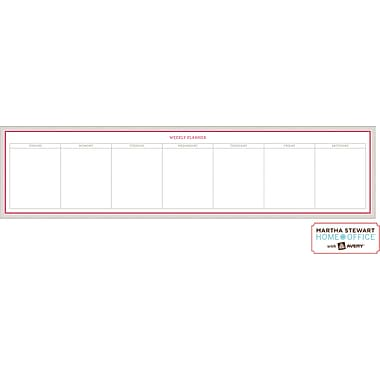 Martha Stewart Home Office™ with Avery™ Dry Erase Weekly Planner, Red and Gray