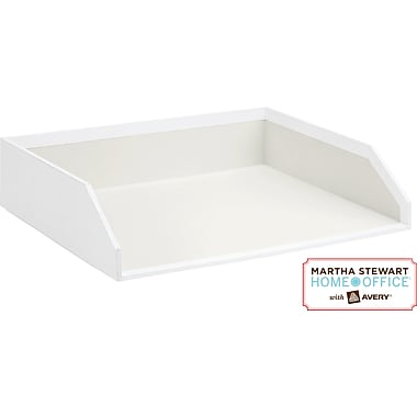 Martha Stewart Home Office™ with Avery™ Stack+Fit™ Shagreen Stackable Inbox, White