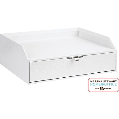 Martha Stewart Home Office™ with Avery™ Stack+Fit™ Shagreen Drawer With Inbox, White