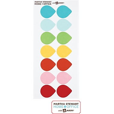 Martha Stewart Home Office™ with Avery™ Removable Color-Coding Labels, 7 Assorted Colors, 84/Pack