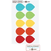 Martha Stewart Home Office™ with Avery™ Removable Color-Coding Labels, Assorted, Tear drop, 100/Pack