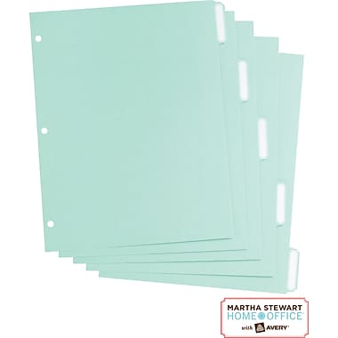 Martha Stewart Home Office™ with Avery™ Paper Dividers Blue, Classic, 8-1/2in. x 11in.
