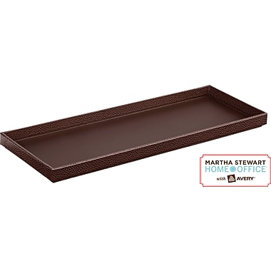 Martha Stewart Home Office™ with Avery™ Stack + Fit™ Shagreen Tray, Brown