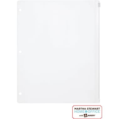 Martha Stewart Home Office™ with Avery™ Zipper Pouch Translucent, 8-1/2in. x 10-1/2in.