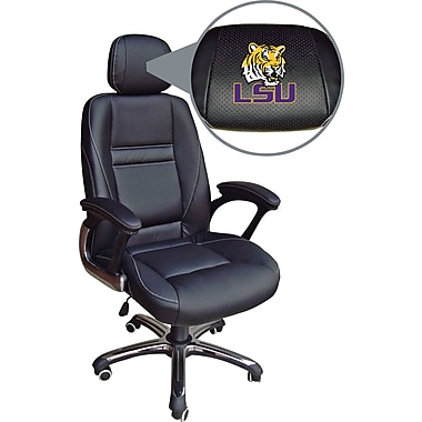 Wild Sports NCAA Leather Executive Chair, LSU Tigers