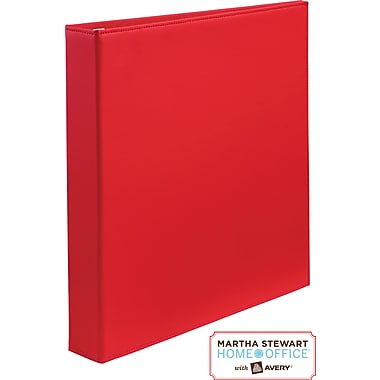 Martha Stewart Home Office™ with Avery™Smooth-Finish Binder 1in.One-Touch EZD™Ring, Red