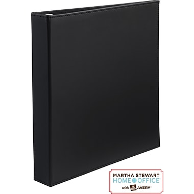 Martha Stewart Home Office™ with Avery™Smooth-Finish Binder 1in.One-Touch EZD™Ring, Black