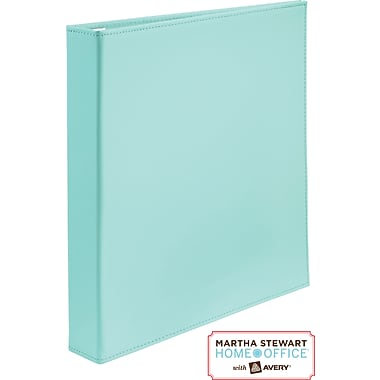 Martha Stewart Home Office™ with Avery™Smooth-Finish Binder 1in.One-Touch EZD™Ring, Blue