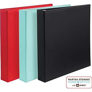 Martha Stewart Home Office™ with Avery™Smooth-Finish Binder 1in.One-Touch EZD™Ring