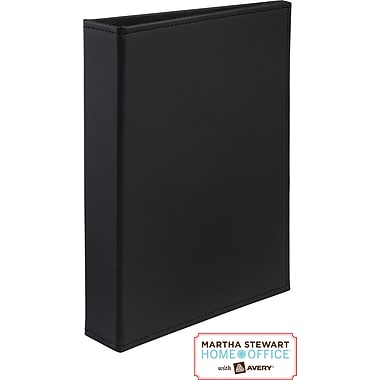 Martha Stewart Home Office™ with Avery™Smooth-Finish Small-Format Binder 1in. Gap Free™ Ring, Black