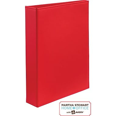 Martha Stewart Home Office™ with Avery™Smooth-Finish Small-Format Binder 1in. Gap Free™ Ring, Red
