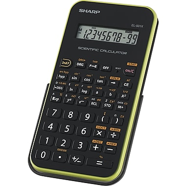Sharp® EL-501XBGR Scientific Calculator, LCD Display
