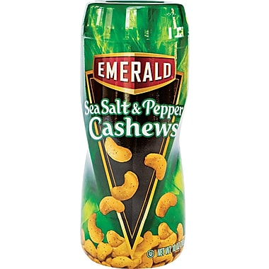 Emerald On-the-Go Sea Salt & Pepper Cashews, 10 oz.