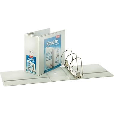 6in.Cardinal® XtraLife® ClearVue™ Binder with Slant-D® Rings, White