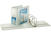 Cardinal XtraLife ClearVue 6-Inch Slant D 3-Ring Binder, White (26360)