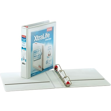 1-1/2in. Cardinal® XtraLife® ClearVue™ Binder with Slant-D® Rings, White