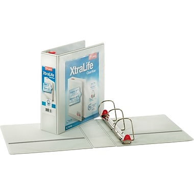 3in. Cardinal® XtraLife® ClearVue™ Binder with Slant-D® Rings, White