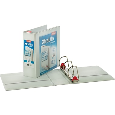 4in. Cardinal® XtraLife® ClearVue™ Binder with Slant-D® Rings, White