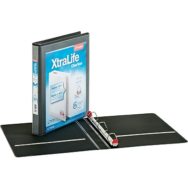 1in. Cardinal® XtraLife® ClearVue™ Binder with Slant-D® Rings, Black