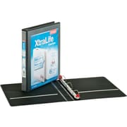 "Cardinal 1"" XtraLife ClearVue Binder with Slant-D Rings, Black"
