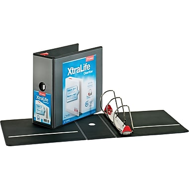 5in. Cardinal® XtraLife® ClearVue™ Binder with Slant-D® Rings, Black