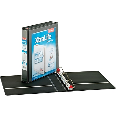 1-1/2in. Cardinal® XtraLife® ClearVue™ Binder with Slant-D® Rings, Black