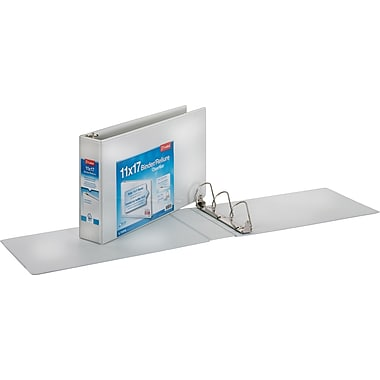 3in. Cardinal® 11 x 17 ClearVue, Slant-D® Ring Binders, White