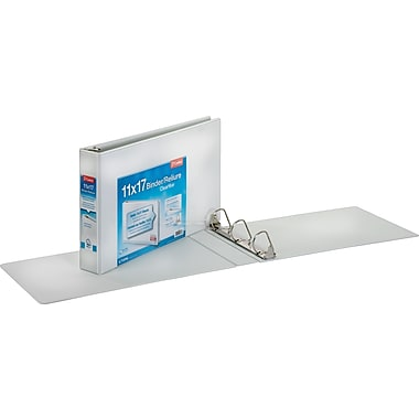 2in. Cardinal® 11 x 17 ClearVue, Slant-D® Ring Binders, White