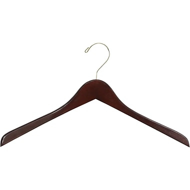 Safco® 18in. Wood Contoured Coat Hanger, Walnut