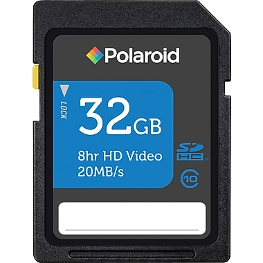 Polaroid 32GB SD (SDHC) Class 10 Flash Memory Card