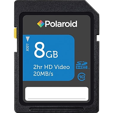 Polaroid SD (SDHC) Class 10 Flash Memory Cards