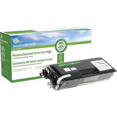 Sustainable Earth by Staples® Remanufactured Laser Toner Cartridge Brother TN-560, High Yield, Black