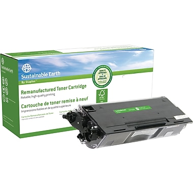 Sustainable Earth by Staples Remanufactured Black Toner Cartridge, Brother TN-580, High Yield