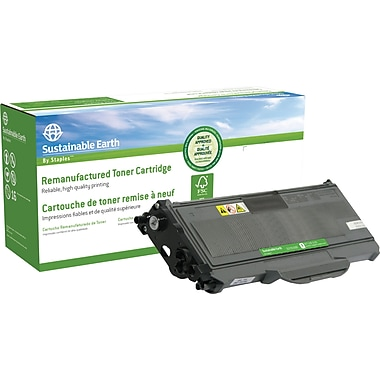 Sustainable Earth by Staples™ Reman Laser Toner Cartridge, Brother TN-360, High Yield