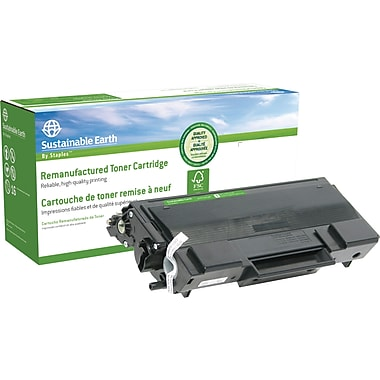 Sustainable Earth by Staples™ Remanufactured Black Toner Cartridge, Brother TN-650, High Yield